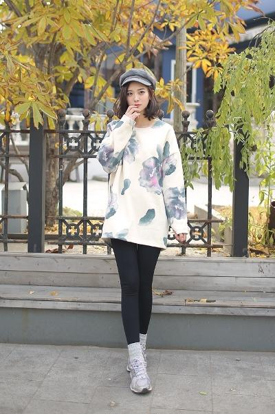 áo len dáng dài phối legging