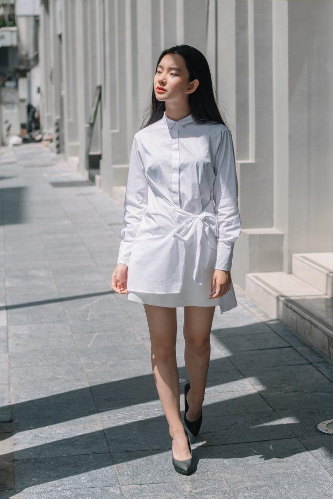 các mẫu áo sơ mi nữ trắng