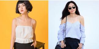 áÁo kiểu khoe xương vai xanh được lăng xê rầm rộ bởi giới trẻ Việt hè 2018