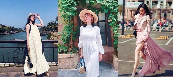 Mẫu chân váy maxi đẹp mới nhất 2018